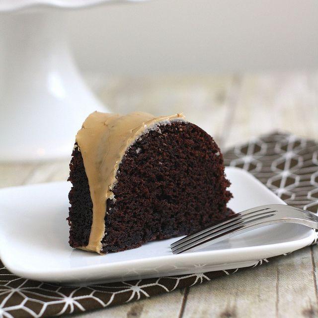 Light chocolate bundt cake