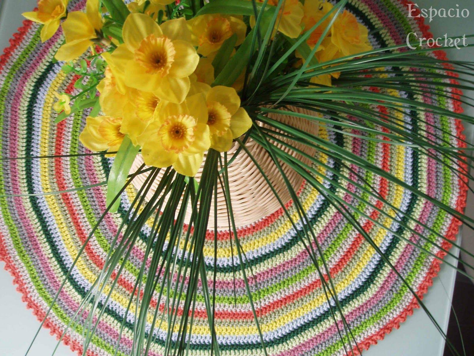Espacio Crochet: Tapete de ganchillo