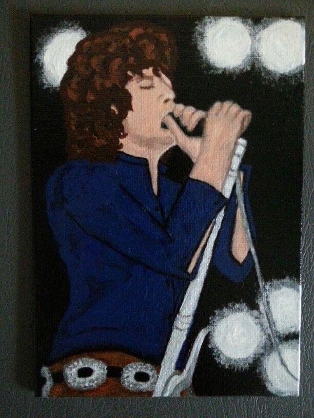 Tableau de Jim Morrison chanteur du groupe  Les Doors Peinture sur toile à l & Tableau de Jim Morrison chanteur du groupe