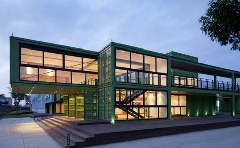 container architektur bemerkenswerte containerhuser wohnen im container - Buro Zu Hause Mit Seestuckunglaubliche Bild