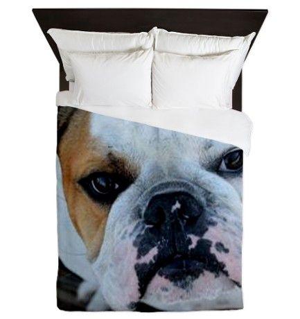 English Bulldog Queen Duvet By Ritmoboxerdesigns Queen Duvet