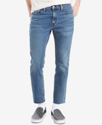 Levi S Men S 511 Slim Fit Cropped Raw Hem Jeans In Demic