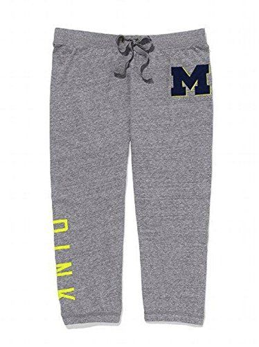 Victorias Secret PINK University of Michigan Banded Crop Sweat Pants XSmall Gray >>> Details can be found by clicking on the image.