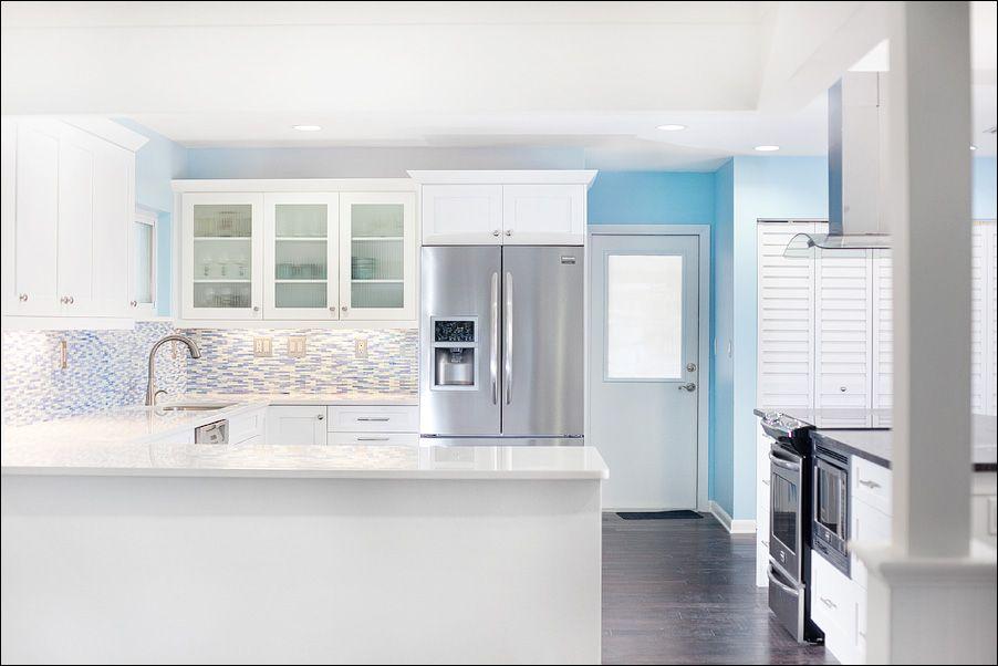 gorgeously perfect kitchen | Urban kitchen, Blue white ...