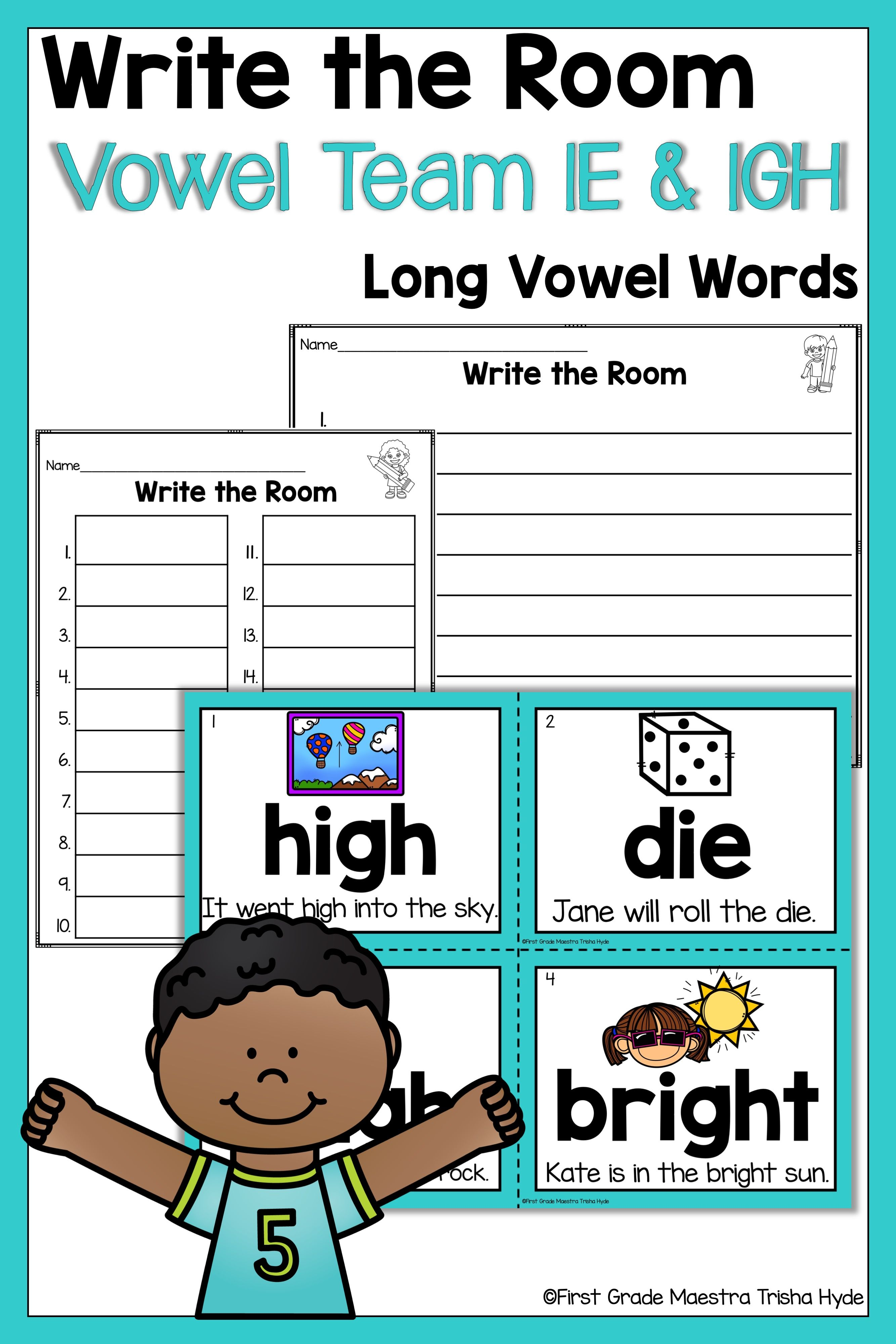 Write The Room Vowel Team Ie And Igh