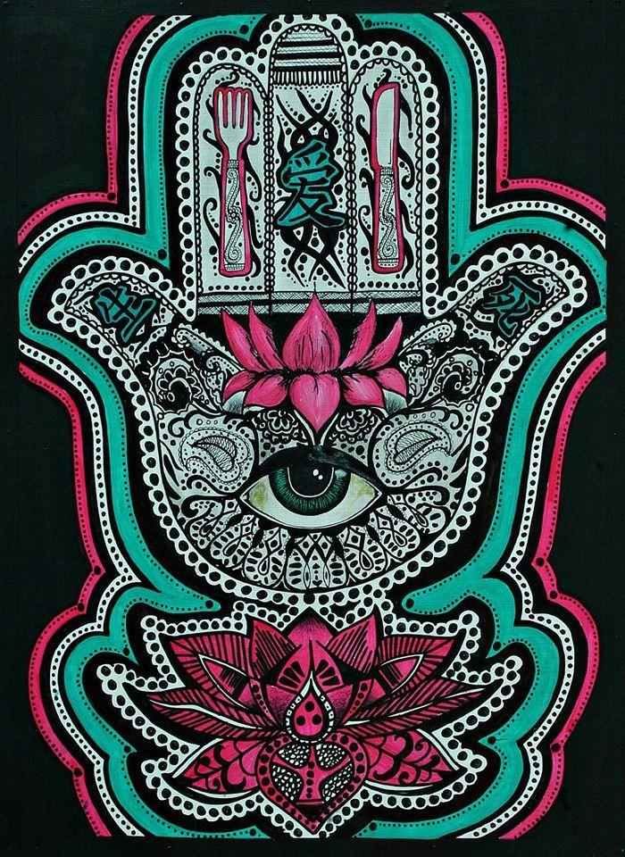 Sai Baba Wallpaper For Iphone 6 Mano De Fatima By Ismael Quinto Caro Hamsa ️ Art