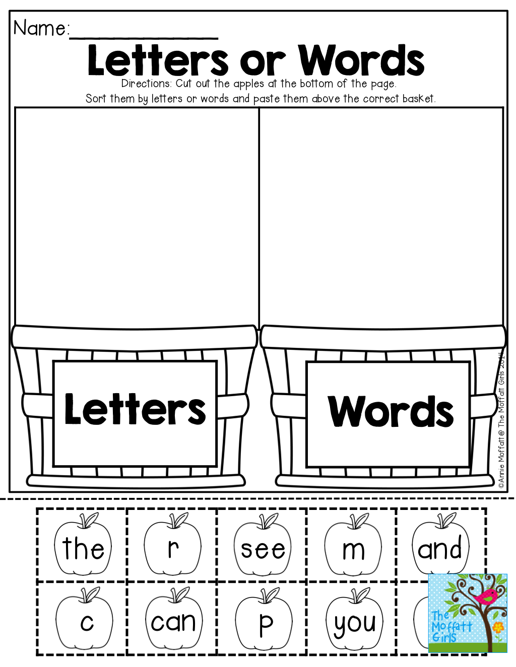 Letters Or Word Tons Of Back To School Resources