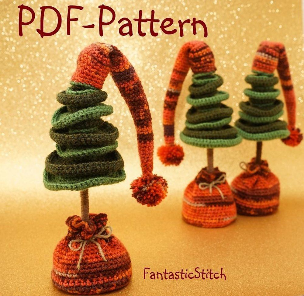 Such crochet christmas tree as amigurumi make for a great present crocheting christmas tree crochet pattern 13 pages bankloansurffo Image collections