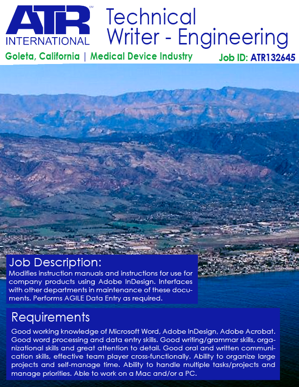 Medical Equipment Engineer Sample Resume Simple Engineering — Technical Writer  Technical Writer Goleta California .