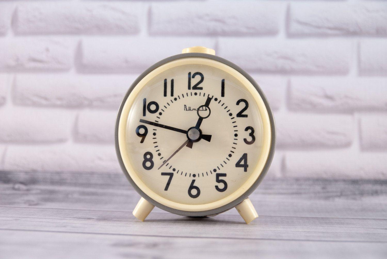Alarm clock working from ussr vitiaz soviet era grey vintage alarm clock working from ussr vitiaz soviet era grey vintage amipublicfo Images