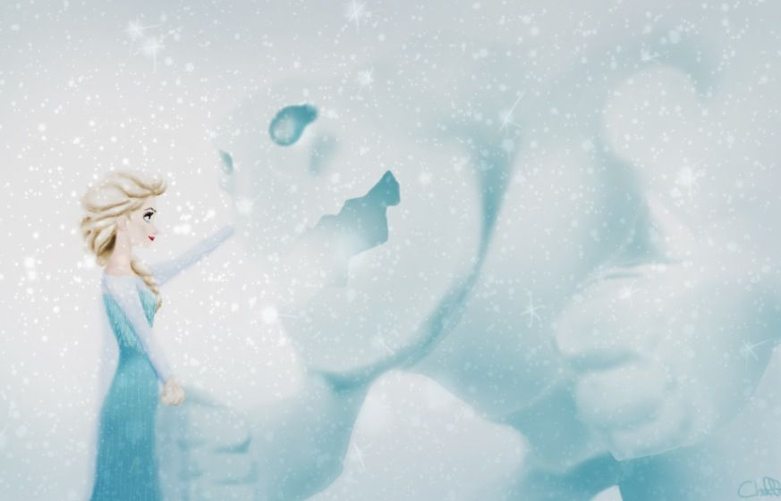 Elsa and Marshmallow ❄️