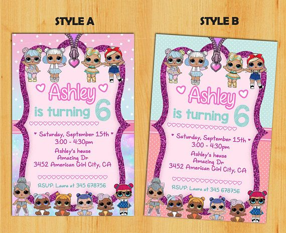 Surprise Birthday Invitations Party Lol Dolls Doll Personalized