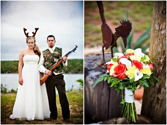 Personally I Think The Should Be Holding Gun And Man Wear Deer