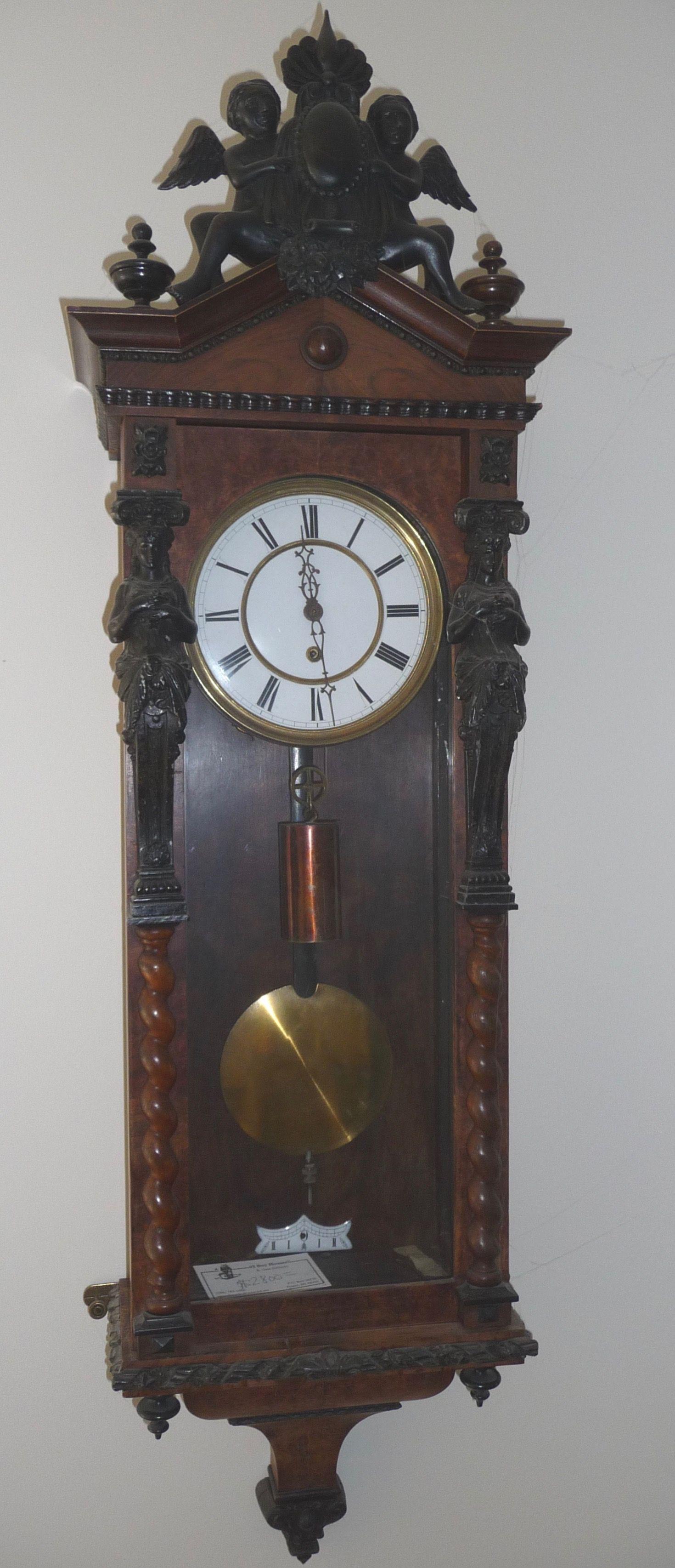 Lenzkirch 1 weight regulator wall clock at antique clock lenzkirch 1 weight regulator wall clock at antique clock amipublicfo Images