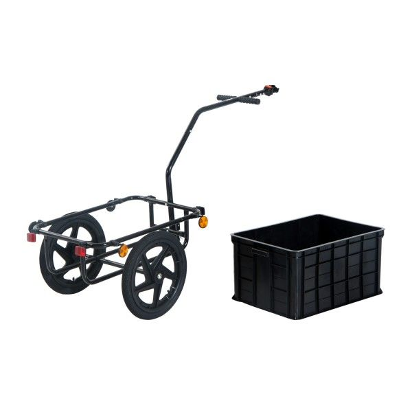 Aosom Double Wheel Internal Frame Enclosed Bicycle Cargo Trailer ...