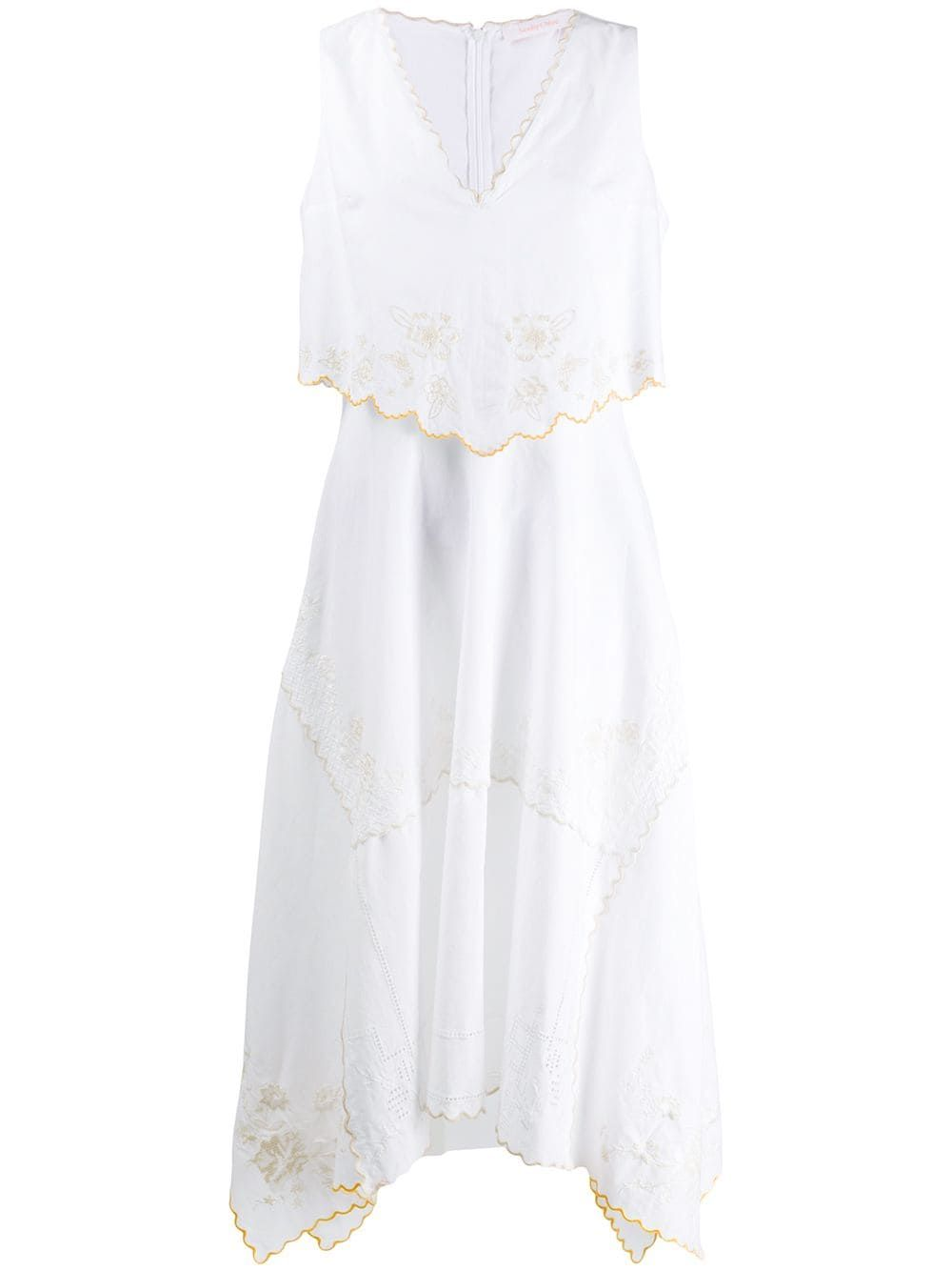 See By Chloe Besticktes Kleid Weiss Embroidered Dress Dresses See By Chloe [ 1334 x 1000 Pixel ]