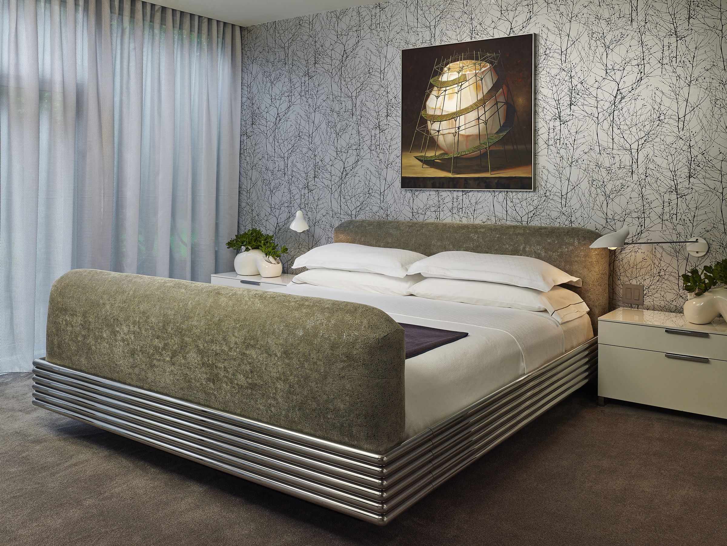 Custom Kisabeth Bed (Upholstery) | Cc: Alice Cottrell Interior Design