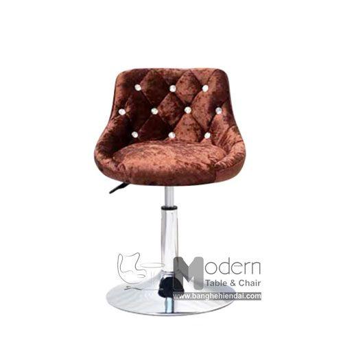 Low Pen Bar Chair Velvet Fabric For Transaction Counter Hcm