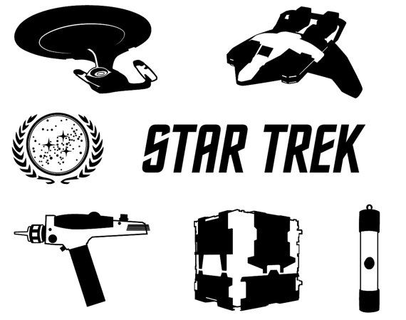 Star Trek dxf svg eps png file for use with your