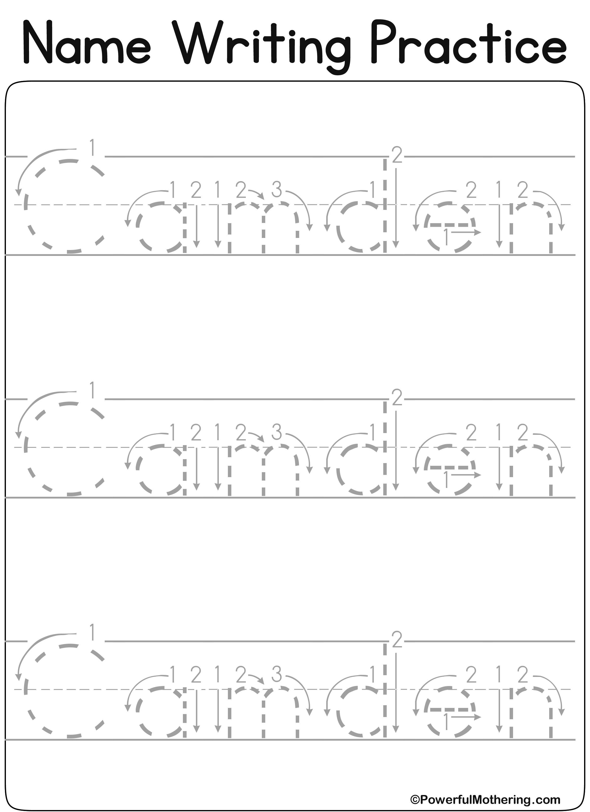 14+ Loveable printable name tracing worksheets ideas
