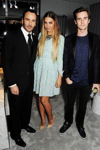 Tom Ford, Amber Le Bon, and Jonny Hynes.