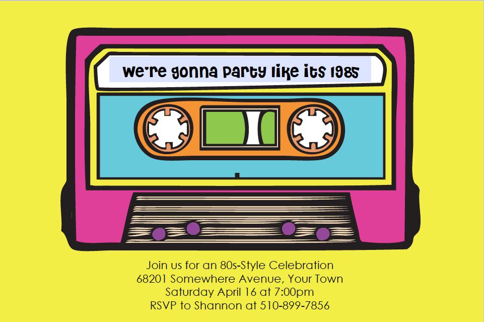 fun invitation neon events pinterest 40th birthday parties