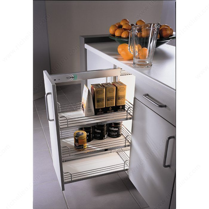 Find The Largest Offer In Side Mount Like Sliding Chrome Wire Baskets For  Base Cabinets At