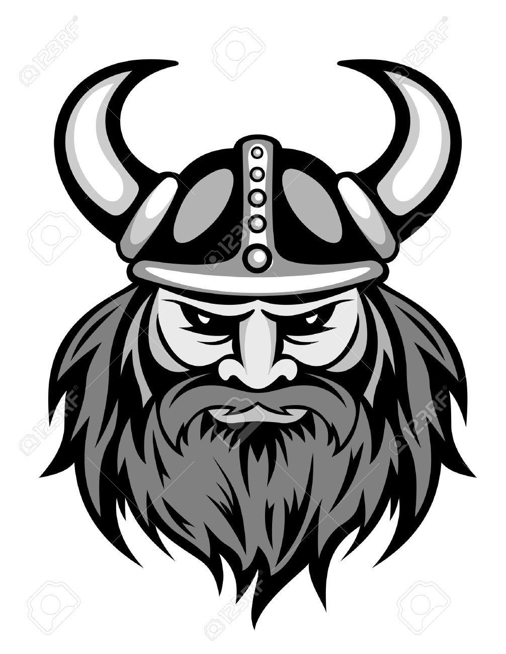 Viking Head Silhouette