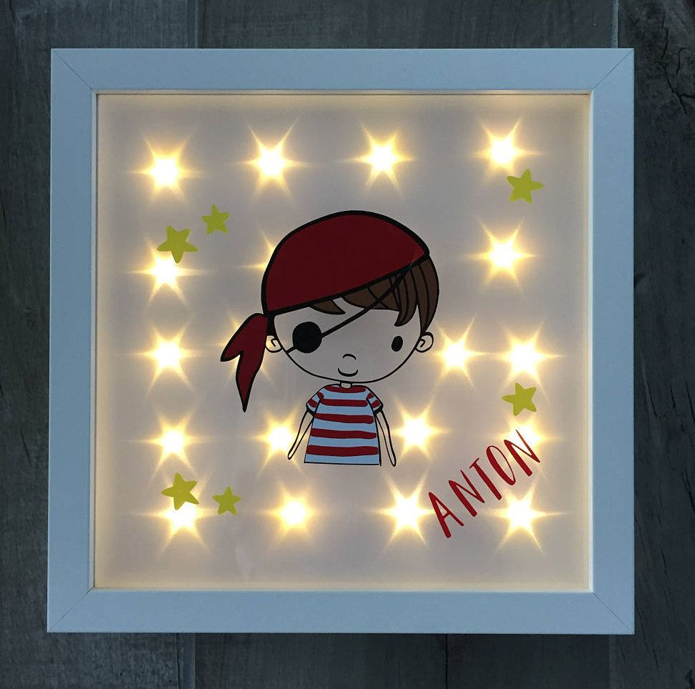 personalized illuminated picture frame pirate pirate bride night light gift birthday. Black Bedroom Furniture Sets. Home Design Ideas
