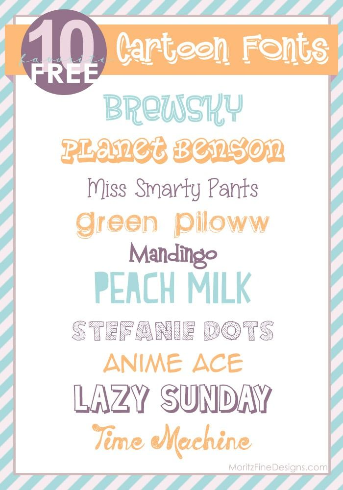 Fun Playful Cartoon Fonts Use For Invitations Party Decor Kids Stuff And