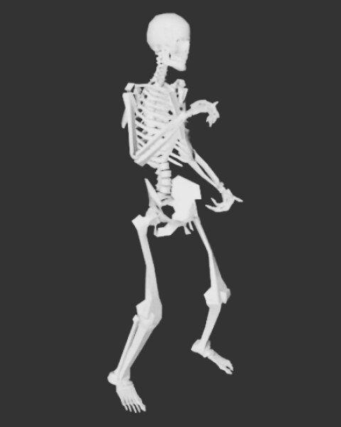 Танцующий скелет гифка