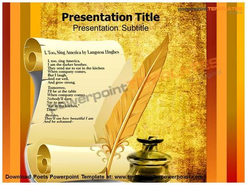 Download Poets Powerpoint Template  D Animated Power Point
