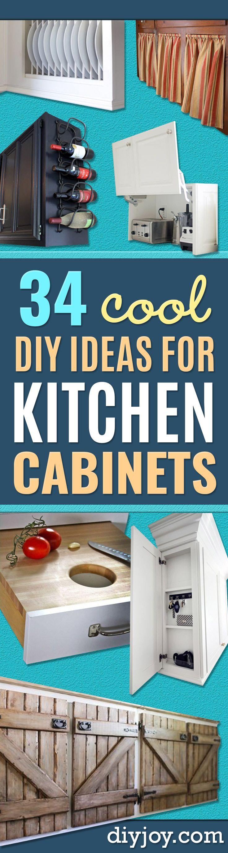 34 DIY Ideas For Kitchen Cabinets | Pinterest | Kitchen cabinet ...