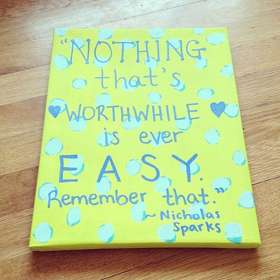 inspirational quote painted on canvas for sale on etsy