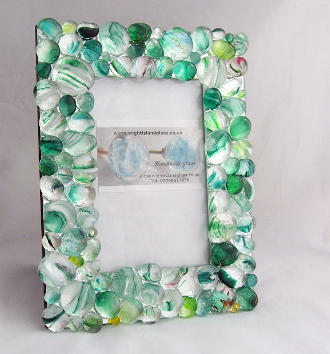 Individually handmade using our recycled glasseen handmade our new handmade photo frames wight island glass 2015 2016 sciox Image collections