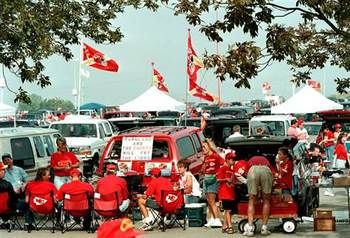 Arrowhead Stadium, Kansas City, Missouri, home to the Kansas City Chiefs Football Club and tailgater paradise, is the third largest venue in the NFL.