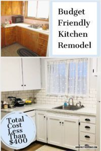 Budget Kitchen Remodel: How I remodeled my small kitchen for less than $400   Pretty As Peonies