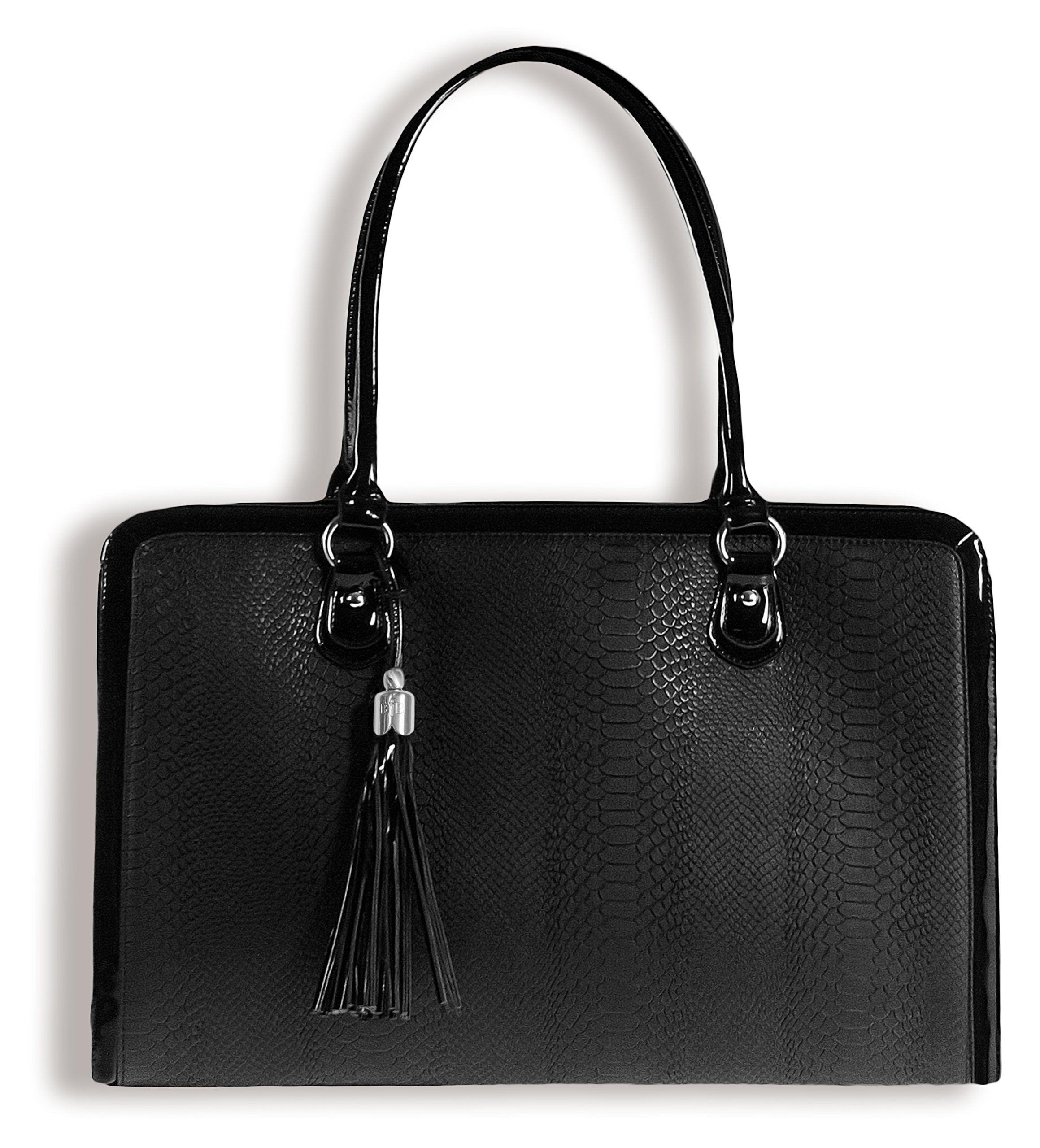 Bfb Laptop Bag For Women Handmade Designer Briefcase Messenger 17 Inch Computer Black