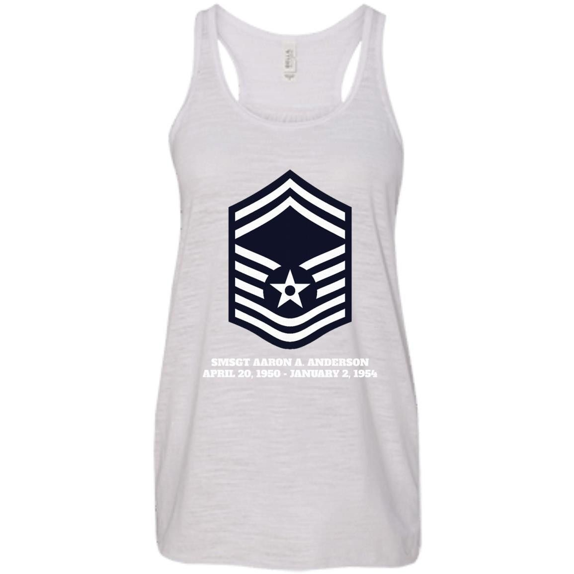Air Force Senior Master Sergeant Rank1-01 Bella + Canvas Flowy Racerback Tank