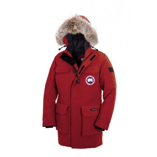 rote canada goose jacke