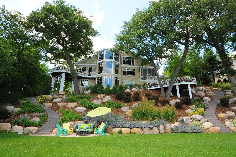 backyard+lake+ideas | Lake Minnetonka Hillside Landscape | Garden ...