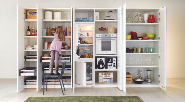 mobile dispensa per cucina | Cucine, Idee per decorare la ...