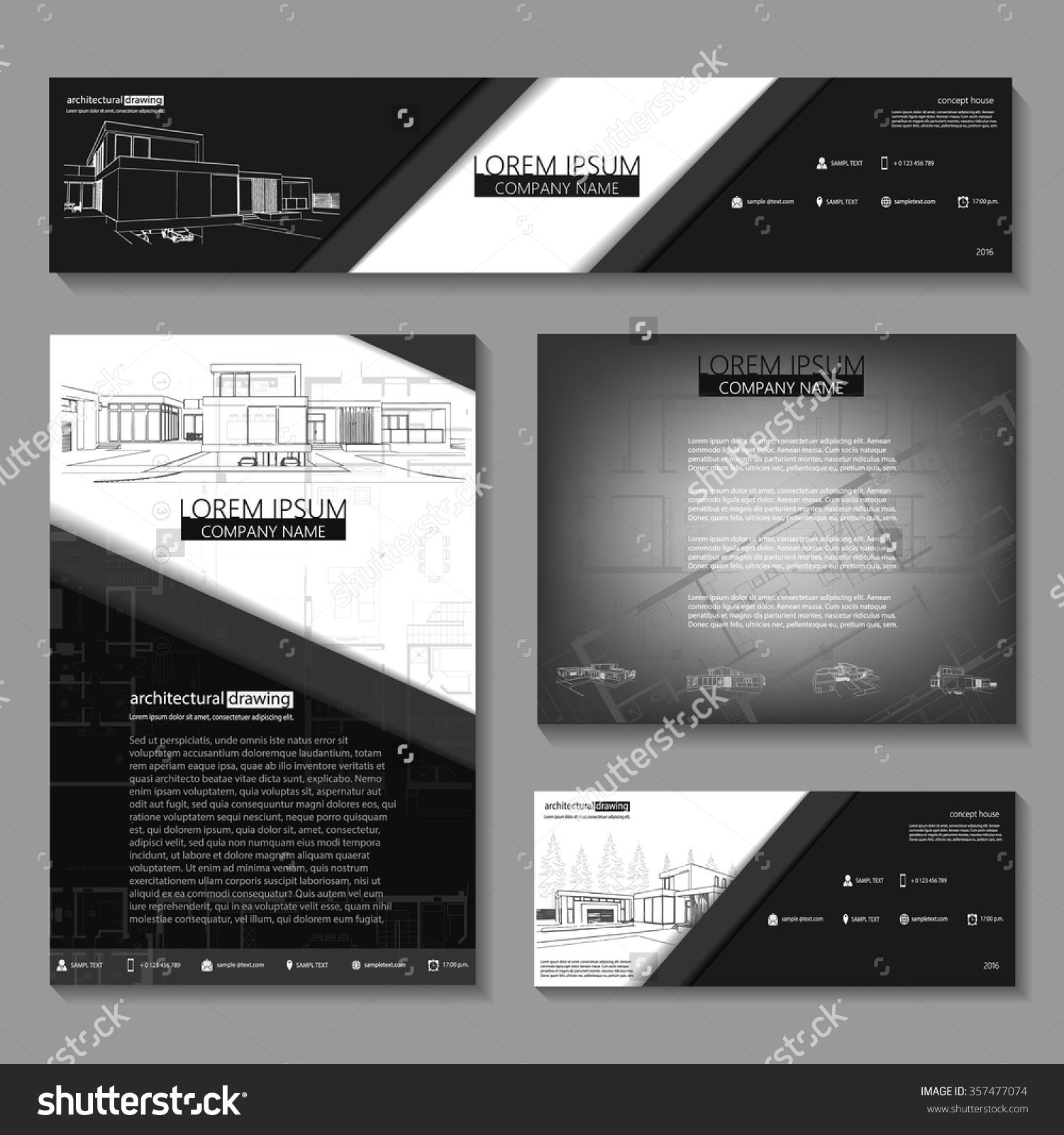 Genial Business Cards Design With Cityscape Sketch For Architectural Company.  Architectural Background For Architectural Project,