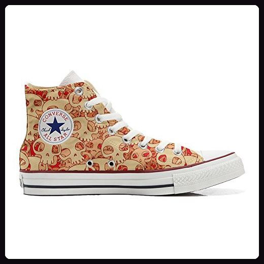 Converse All Star personalisierte Schuhe (Handwerk Produkt) Orange Skull  39 EU