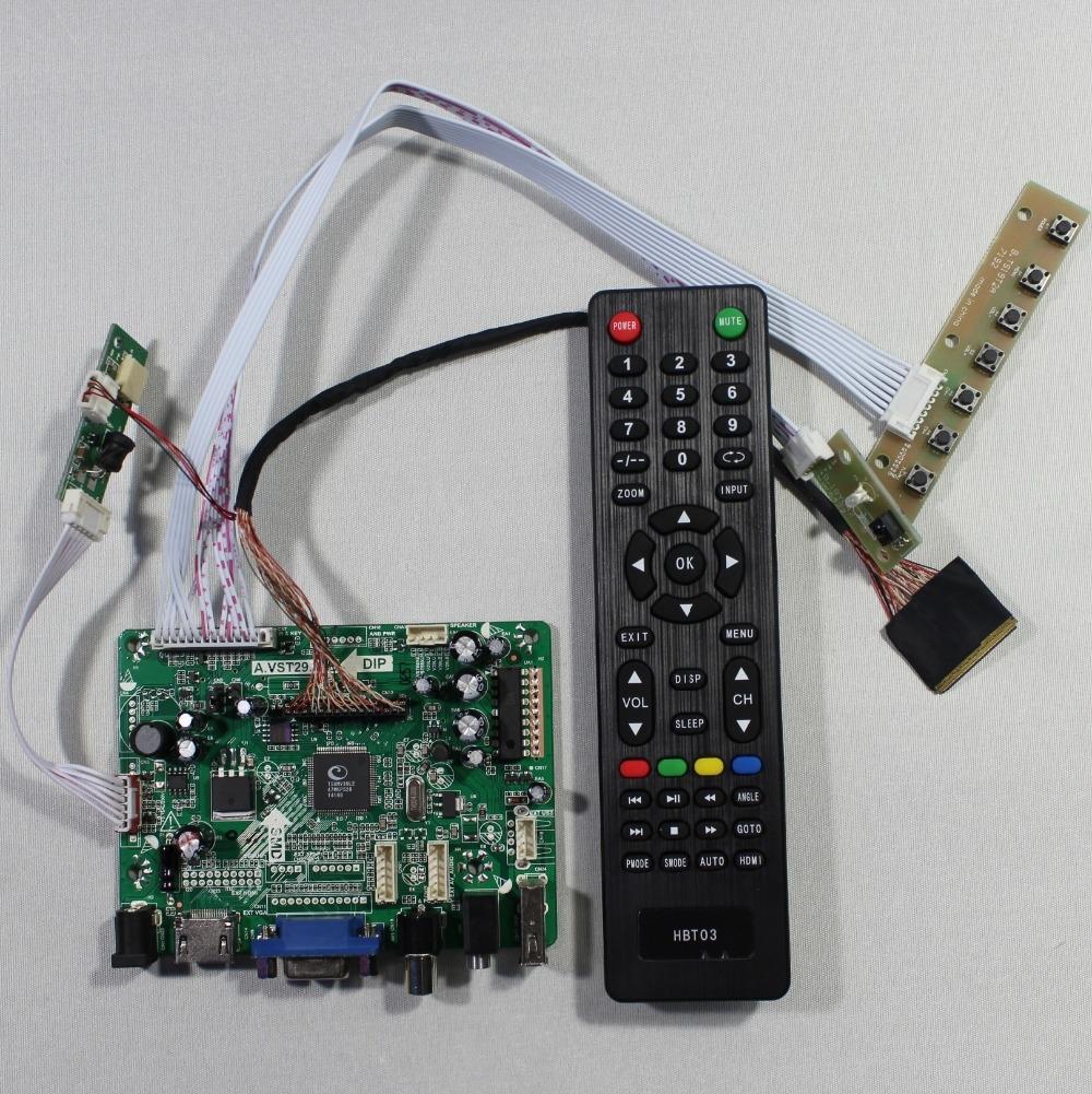 34.99$  Watch now  - HDMI+VGA+AV+Audio+USB FPV Controller board for 10.1inch B101UAN02 1920x1200 LCD screen model lcd for Raspberry Pi