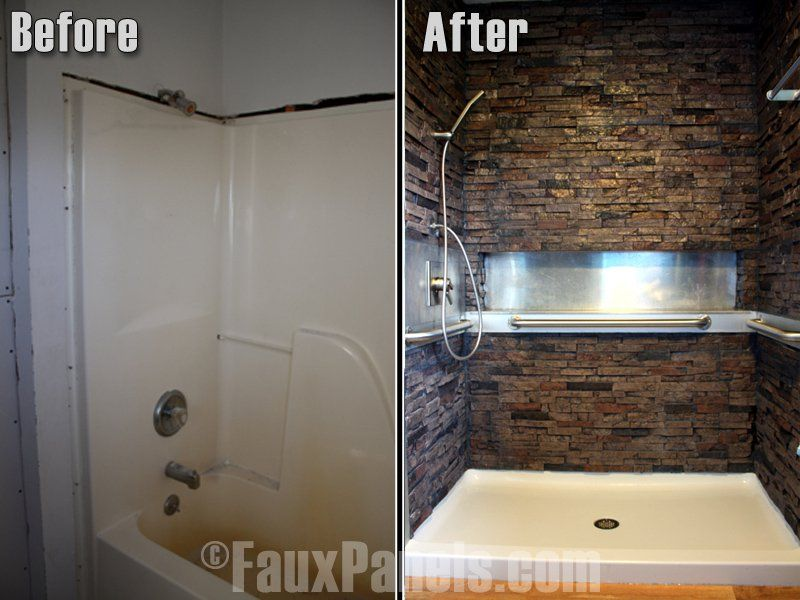 Amazing Stone Veneer Shower Designs Cost Less And Take A Fraction Of The Time To Build Home Renovation Bathrooms Remodel Bathroom Design