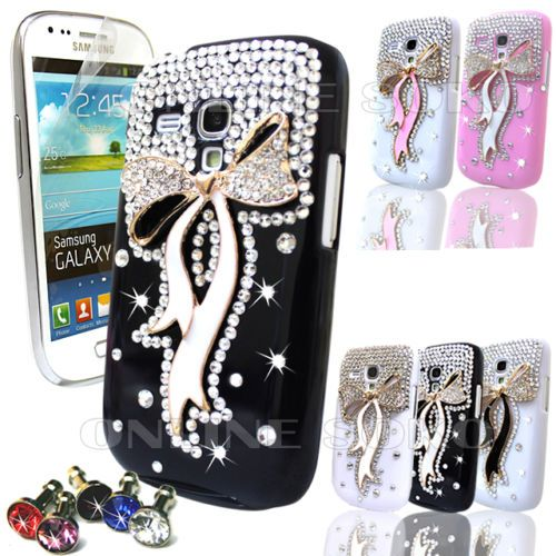 the latest 52f0b acea6 Details about FOR SAMSUNG GALAXY S3 MiNi i8190 CRYSTAL 3D LUXURY ...