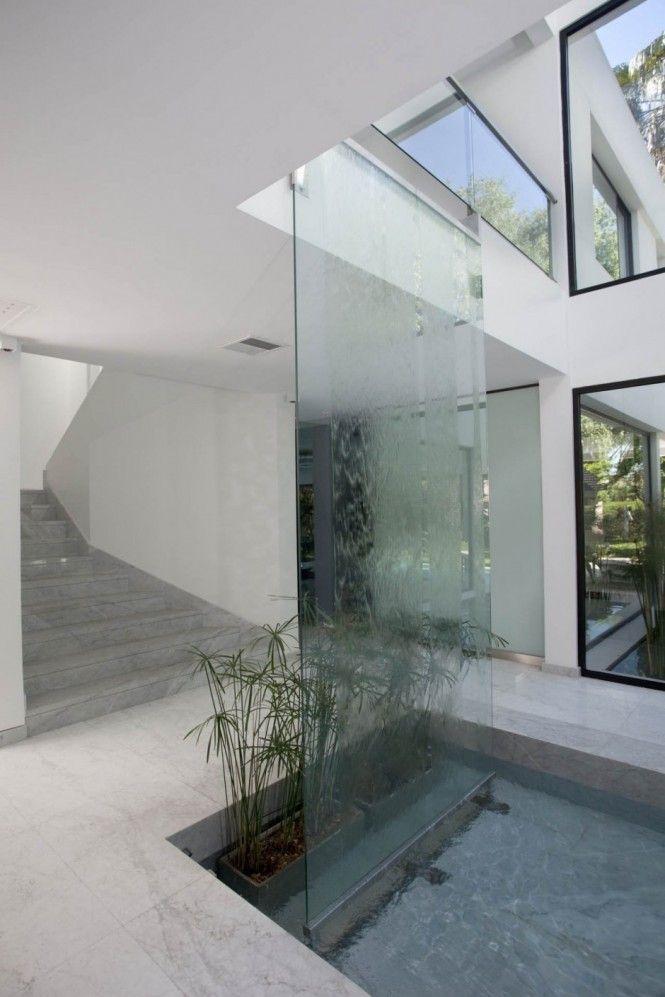Carrara House By Andres Remy Arquitectos Indoor Water Features Water Walls Indoor Waterfall
