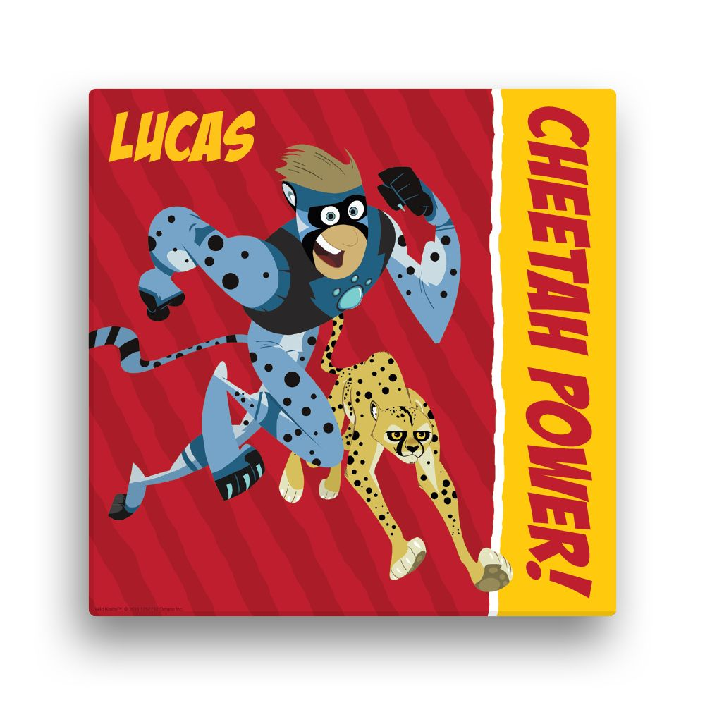 Wild Kratts Cheetah Power 16 x16 Canvas Wall Art Wild