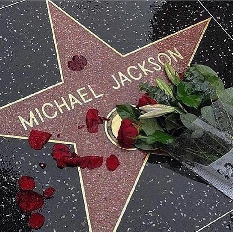 Michael Jackson's star on the Hollywood Walk Of Fame #michaeljackson